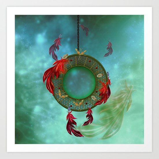 Wonderful dreamcatcher Art Print