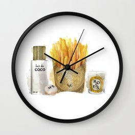 Fashion French Fries, Lait de Coco Wall Clock