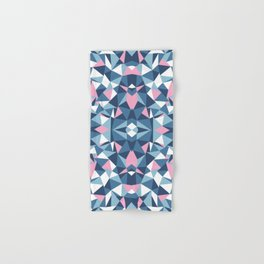Abstract Collide Blue and Pink Hand & Bath Towel