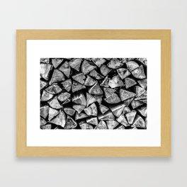 Campfire wood II Framed Art Print