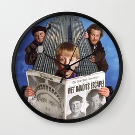 Lost In New York Wall Clock