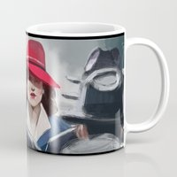 agent carter Mugs featuring Agent Carter by IVIDraws