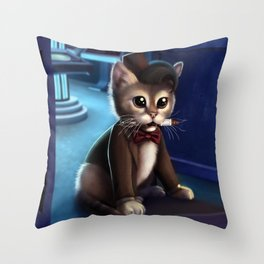 Doctor Who Cat Throw Pillow