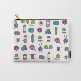 Knitting Balls of Yarn - Watercolor Carry-All Pouch
