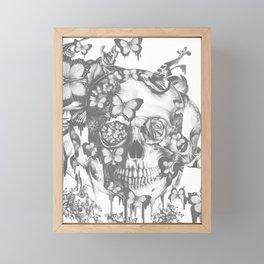 Ashes to Ashes lace skull Framed Mini Art Print