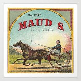 Maud S Vintage Horse Racing Art Print
