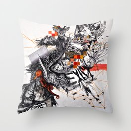 Organic Geometry Throw Pillow