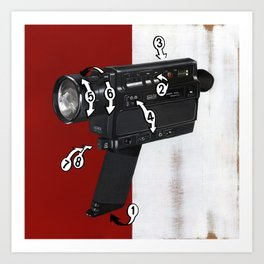 Bad Robot - Super8 Art Print
