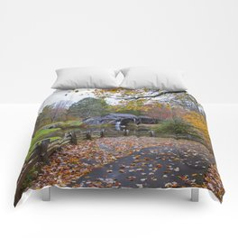 Mabry Mill In Autumn Comforters