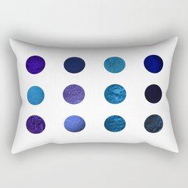 Blue Pigments Rectangular Pillow