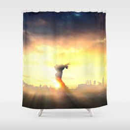 Sunrise on Top of the World Shower Curtain
