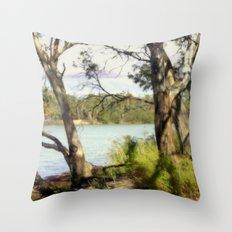 Australian Native Flora Throw Pillow