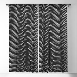 GRIEVE shades of dark grey weave together to gain strength Blackout Curtain