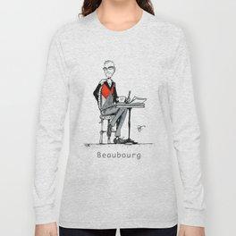 A Few Parisians: Beaubourg by David Cessac Long Sleeve T-shirt
