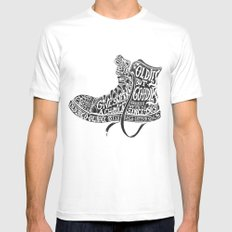 Oldies but Goodies White MEDIUM Mens Fitted Tee