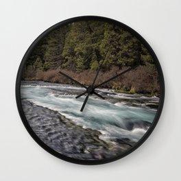 Metolius River near Wizard Falls Wall Clock