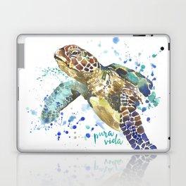 Sea Turtle Pura Vida Watercolor Laptop & iPad Skin