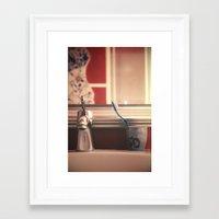 bathroom Framed Art Prints featuring bathroom by Joana Kruse