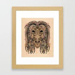 AFGHAN HOUND ZETANGLE Framed Art Print