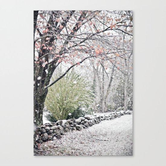 Autumn Snowfall Canvas Print