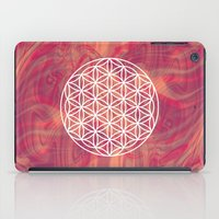 flower of life iPad Cases featuring Life Flower by shutupbek