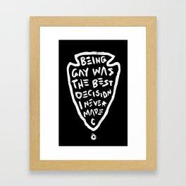 Being Gay Black Framed Art Print