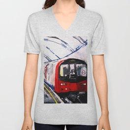 London Underground Northern Line Fine Art Unisex V-Neck
