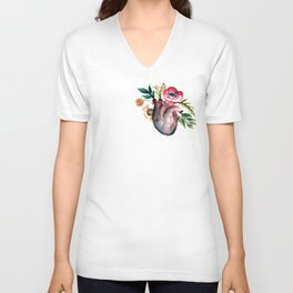 Botanical heart Unisex V-Neck