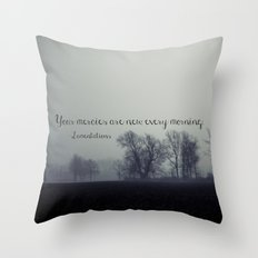 Your Mercies are New  Throw Pillow