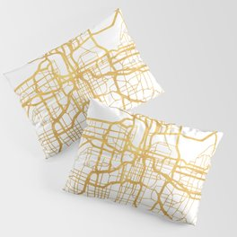 KANSAS CITY MISSOURI CITY STREET MAP ART Pillow Sham