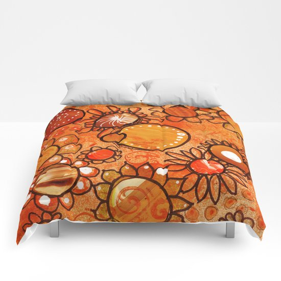 orange, yes Comforters