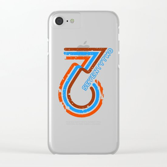 seventytwo''72 Clear iPhone Case