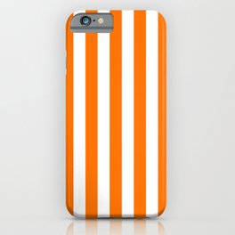 Turmeric Orange Beach Hut Vertical Stripe Fall Fashion iPhone Case