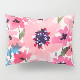 Peachy Wildflowers Pillow Sham