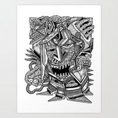 Geometric Mutations: Time to Wake Up Art Print