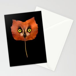 Autumn Owl-3 Stationery Cards
