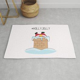 Holly jolly  Santa Rug
