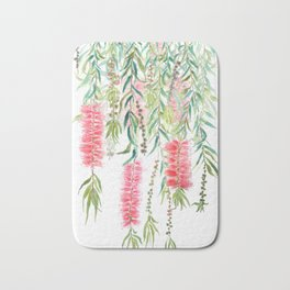 bottle brush tree flower Bath Mat