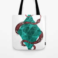 crystal Tote Bags featuring Mystic Crystal by Hector Mansilla