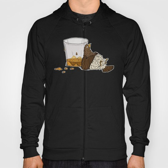 Thirsty Grouse - Colored with White Background Hoody
