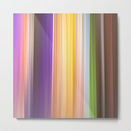 Different soft coloured striped abstract Metal Print