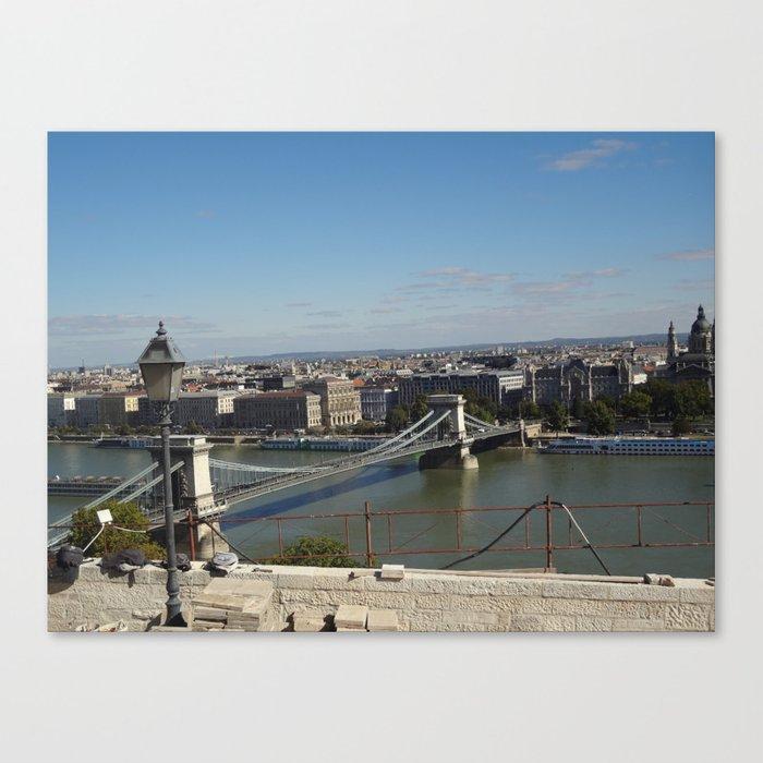 Not-so-blue Danube Canvas Print
