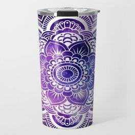 Mandala purple blue galaxy space Travel Mug