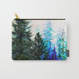 TEAL COLOR  MOUNTAIN  PINE FOREST LANDSCAPE Carry-All Pouch