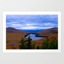 Kettle Pond in Fall - Vermont Art Print