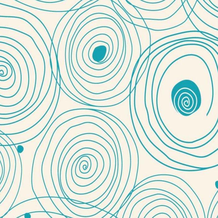 Blue Scribbles Pattern 04 Leggings