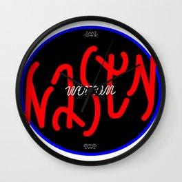 nasty woman invertible ambigram Wall Clock