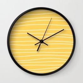 Sunshine Brush Lines Wall Clock