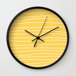 Sunshine Brush Lines Wall Clock