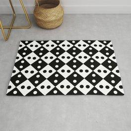 optical pattern 40 rhombus and polka dot Rug